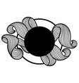 background with wave line curls monochrome vector image