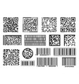 barcode bar code label isolated for scan info vector image