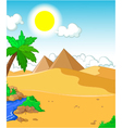 beautiful view of tree cartoon with desert landsca vector image vector image