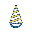 birthday hat symbol vector image vector image