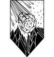black meteor vector image