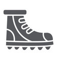 boot glyph icon footwear and hiking shoe set vector image