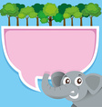 Border design with elephant and jungle vector image vector image