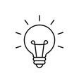 bright idea icon bulb icon brainstorming vector image vector image