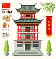 Building of China travel design vector image vector image