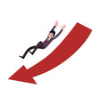 businessman falling down in direction huge vector image