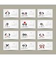 Calendar grid 2015 design Couple in love together