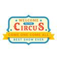 circus signboard board displaying entertainment vector image vector image