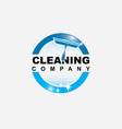 cleaning service logo design template inspi vector image