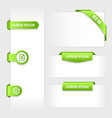 collection glossy rounded green 3d stickers on vector image vector image