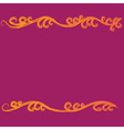 Colorful flourish curves vector image vector image