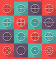 crosshair icon set vector image vector image