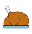 delicious chicken food roast taste vector image vector image