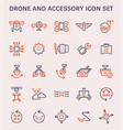 drone accessory icon vector image