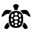 exotic turtle icon simple style vector image vector image