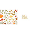 fall season flat background autumn vector image vector image