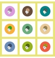 flat icons Halloween set of ghost and moon concept vector image vector image