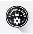 Football or soccer emblem vector image vector image