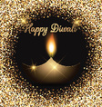 Glittery Diwali celebration background vector image vector image