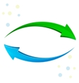 Green blue arrow 3D vector image