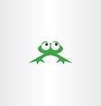 green frog icon symbol vector image
