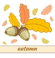 Greeting Card Autumn-3-01 vector image vector image