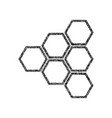 honeycomb sign black icon from many vector image