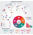 Infographics elements set Pie chart and timeline vector image vector image