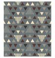 irregular triangles seamless pattern vector image