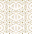 japanese pattern gold geometric background vector image vector image