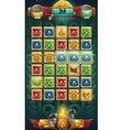 Jungle shamans GUI playing field window vector image vector image
