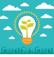 Light Bulb Green Energy vector image vector image