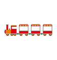 locomotive kids toy isolated on white vector image