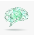 Low poly human brain vector image vector image