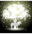 Magical tree and Unicorn vector image vector image