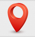 map pointer 3d pin pointer red pin marker vector image