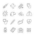 medical icons set black hand drawn signs vector image vector image