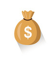moneybag flat simple cartoon with vector image