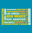 new mexico state cities list vector image vector image
