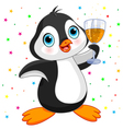 Penguin Celebrating vector image vector image