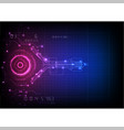 pink blue futuristic circuit technology vector image vector image