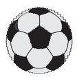pixelated soccer ball vector image