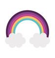 Rainbow sky isolated