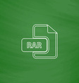 RAR computer symbol vector image vector image