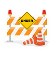 road barrier with and traffic cone vector image