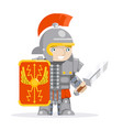 roman legionare warrior praetorian guard fantasy vector image