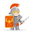 roman legionare warrior praetorian guard fantasy vector image