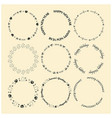 round decorative frames for christmas vector image