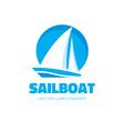 Sailboat - logo concept vector image vector image