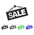 sale signboard icon vector image vector image